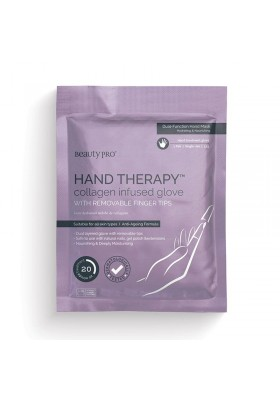 Beauty Pro Hand Therapy Collagen Infused Glove With Removable Fingertips 17g