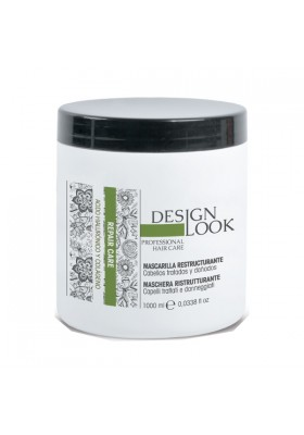 Mascarilla Reestructurante Acido Hialuronico y Colageno Repair Care 1000Ml Design Look